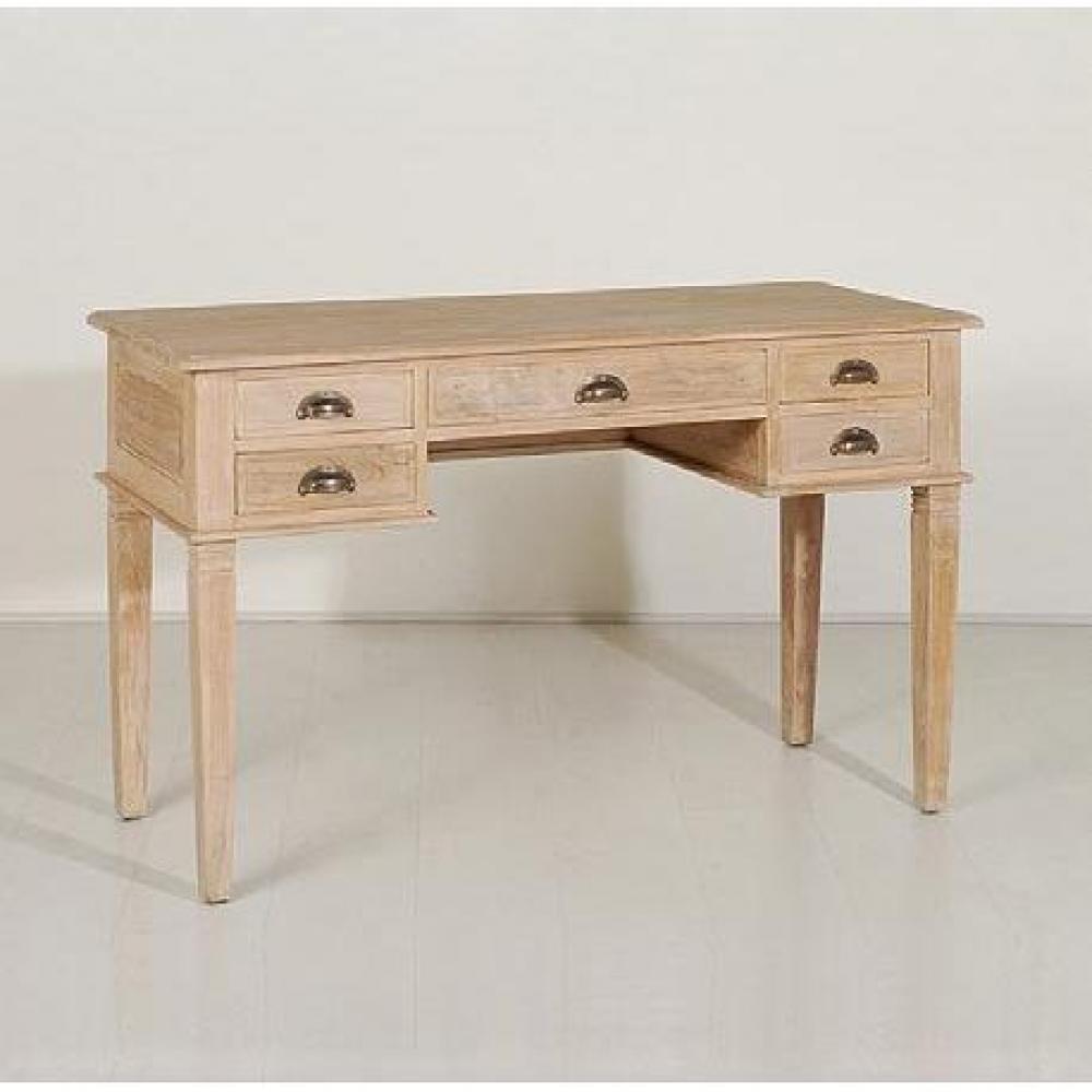 Meubles de bureau meubles et rangements bureau 5 tiroirs indon sien en teck - Bureau style colonial ...
