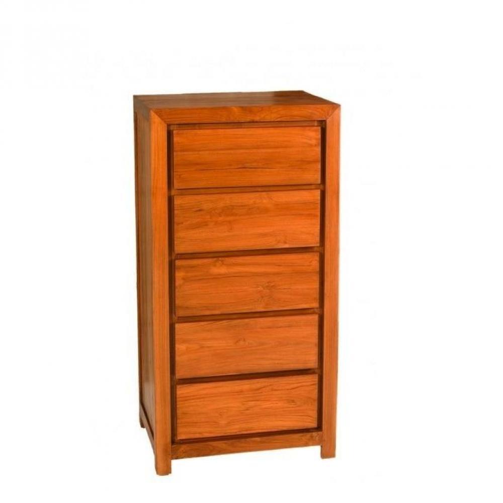 commodes meubles et rangements chiffonnier indon sien 5 tiroirs en teck style colonial inside75. Black Bedroom Furniture Sets. Home Design Ideas