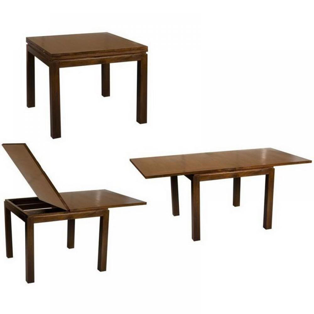 Tables modulables table indo rallonge plateaux double for Table 90x90 design