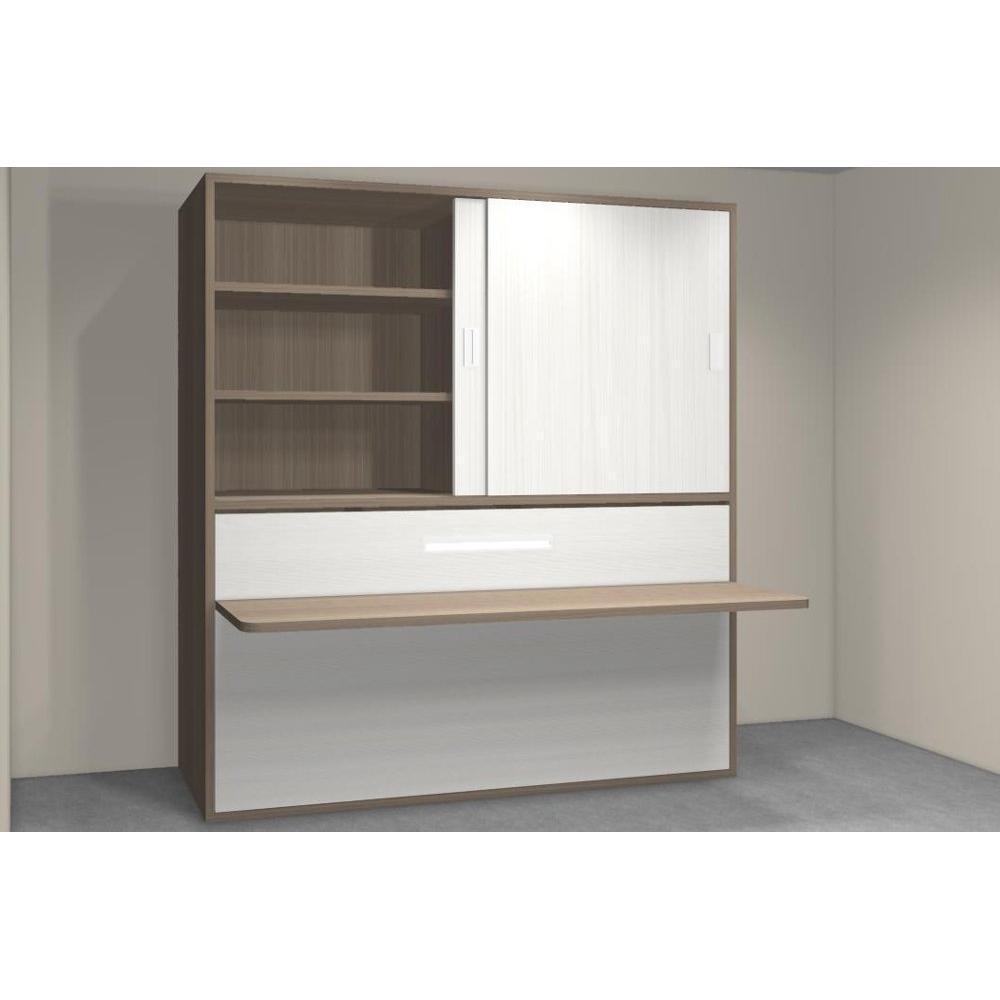 Armoire lit 1 place armoires lits escamotables armoire for Lit escamotable bureau integre