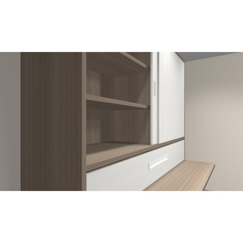 Armoire lit 1 place armoires lits escamotables armoire lit transversale acc - Armoire bureau integre ...