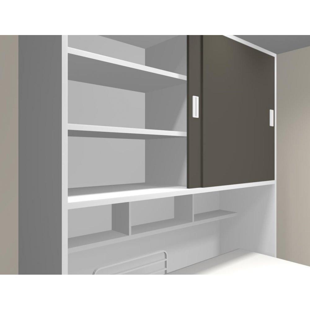 Armoire lit 1 place armoires lits escamotables armoire lit transversale accura couchage 90 - Armoire lit transversale ...