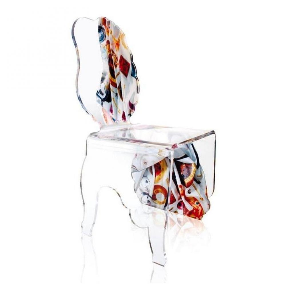 Chaises tables et chaises chaise acrila carlo rampazzi for Chaise plexiglass design