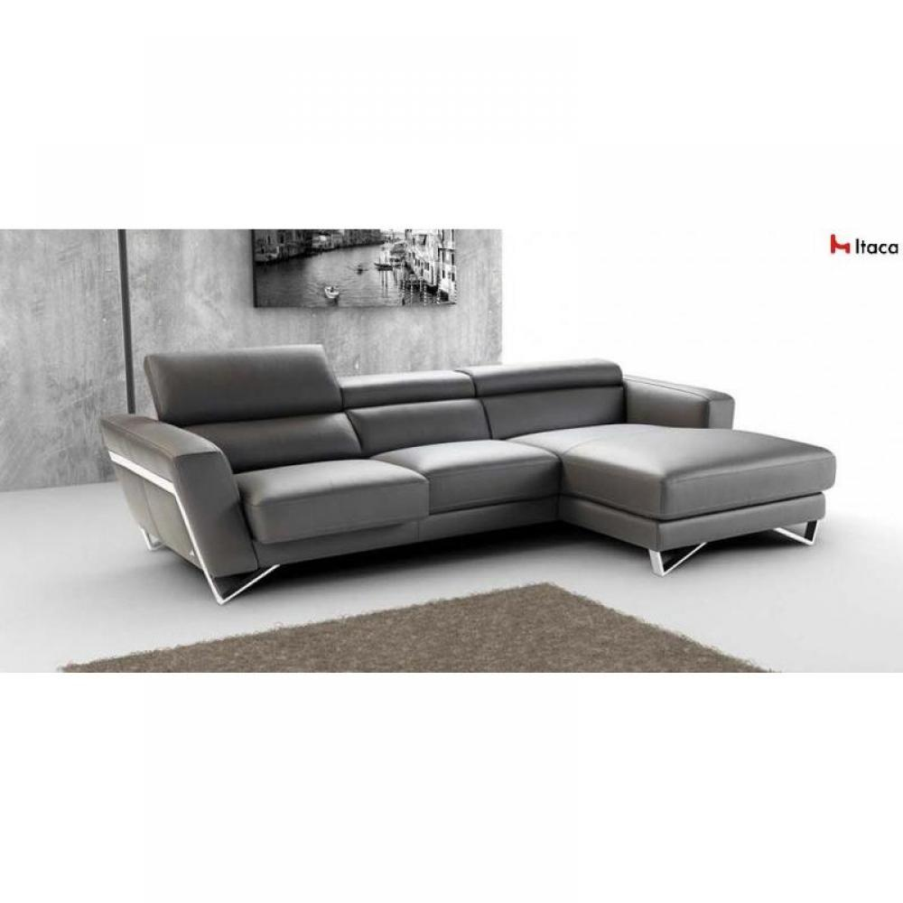 canap s et convertibles canap d 39 angle 266 172cm itaca de nicoletti cuir vachette inside75. Black Bedroom Furniture Sets. Home Design Ideas
