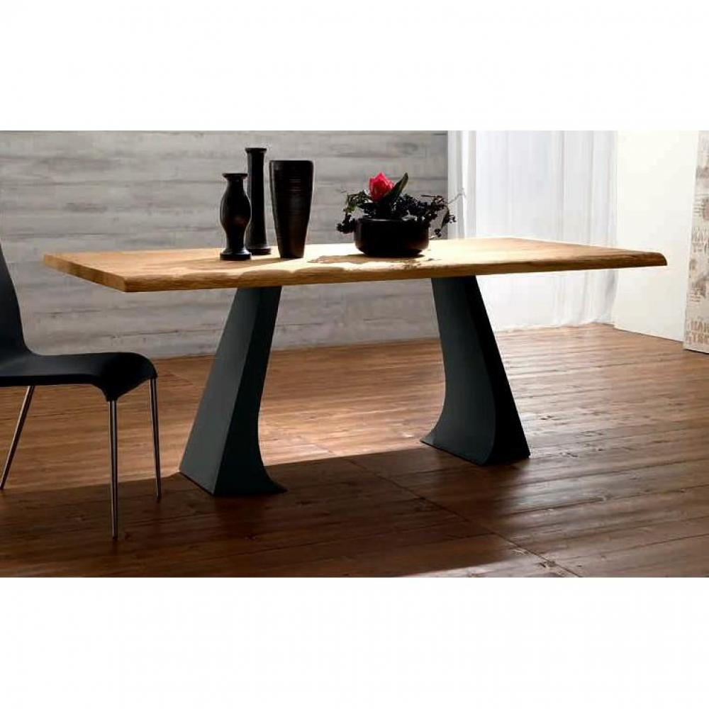 Tables repas tables et chaises arcade table repas en ch ne naturel pi teme - Patte de table metal ...