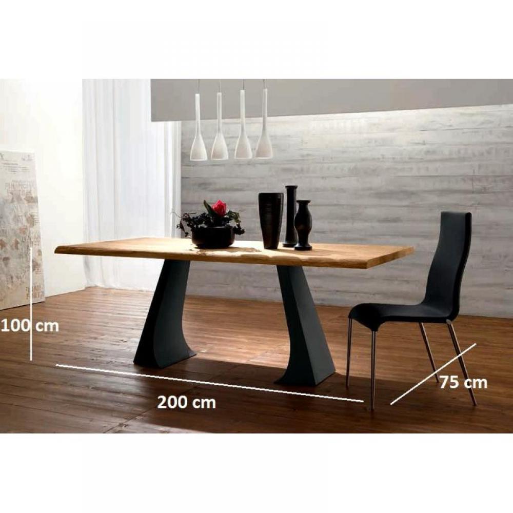 tables repas tables et chaises arcade table repas en ch ne naturel pi tement en m tal. Black Bedroom Furniture Sets. Home Design Ideas