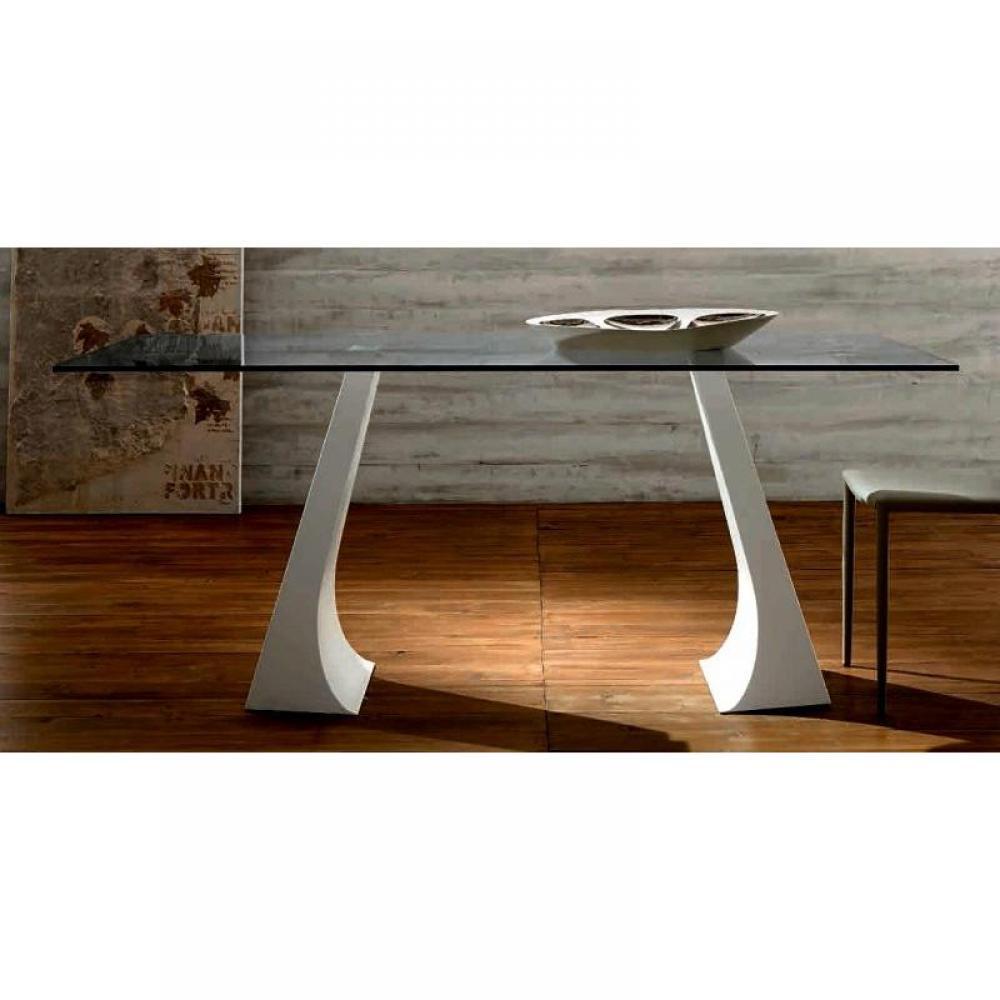 Tables repas tables et chaises arcade table repas - Table verre pied bois ...
