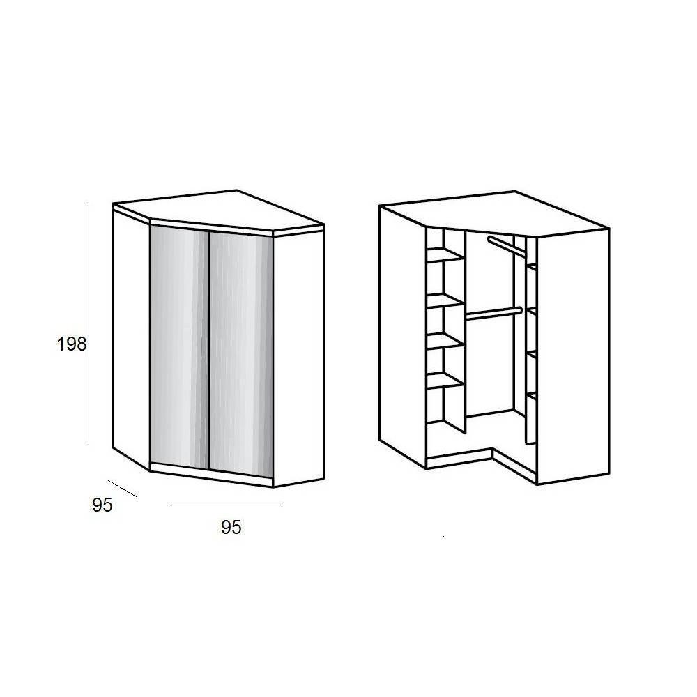 Dressings et armoires chambre literie armoire d 39 angle - Armoire penderie miroir ...