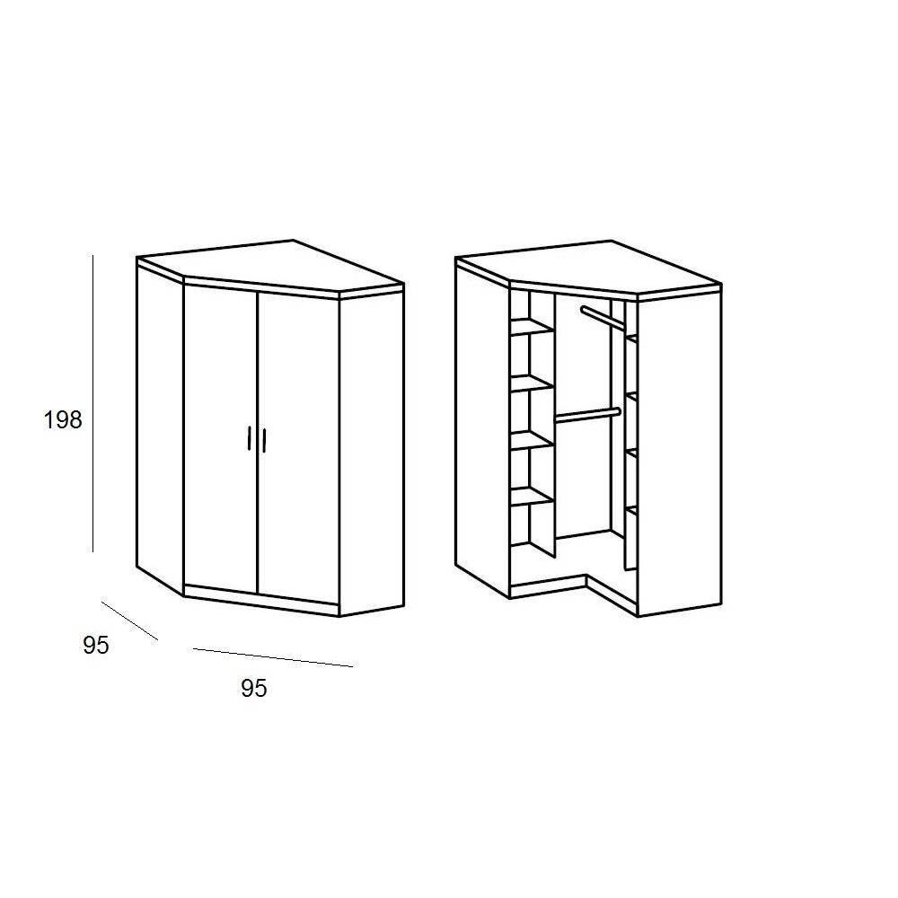 Dressings et armoires chambre literie armoire d 39 angle - Caisson d angle pour dressing ...