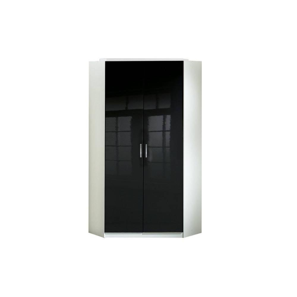 dressings et armoires meubles et rangements armoire d 39 angle cooper noire avec 2 portes. Black Bedroom Furniture Sets. Home Design Ideas
