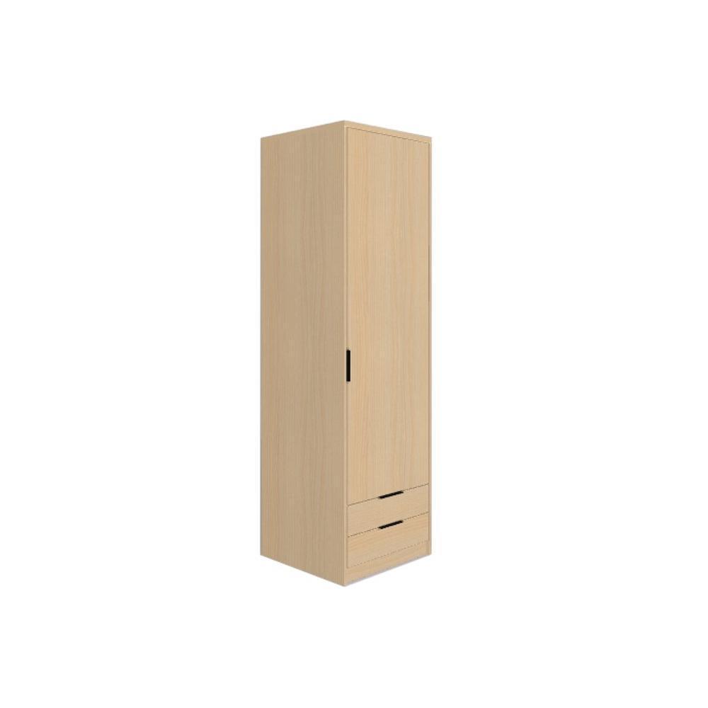 dressings et armoires armoires lits escamotables armoire listo 1 porte battante 2 tiroirs. Black Bedroom Furniture Sets. Home Design Ideas