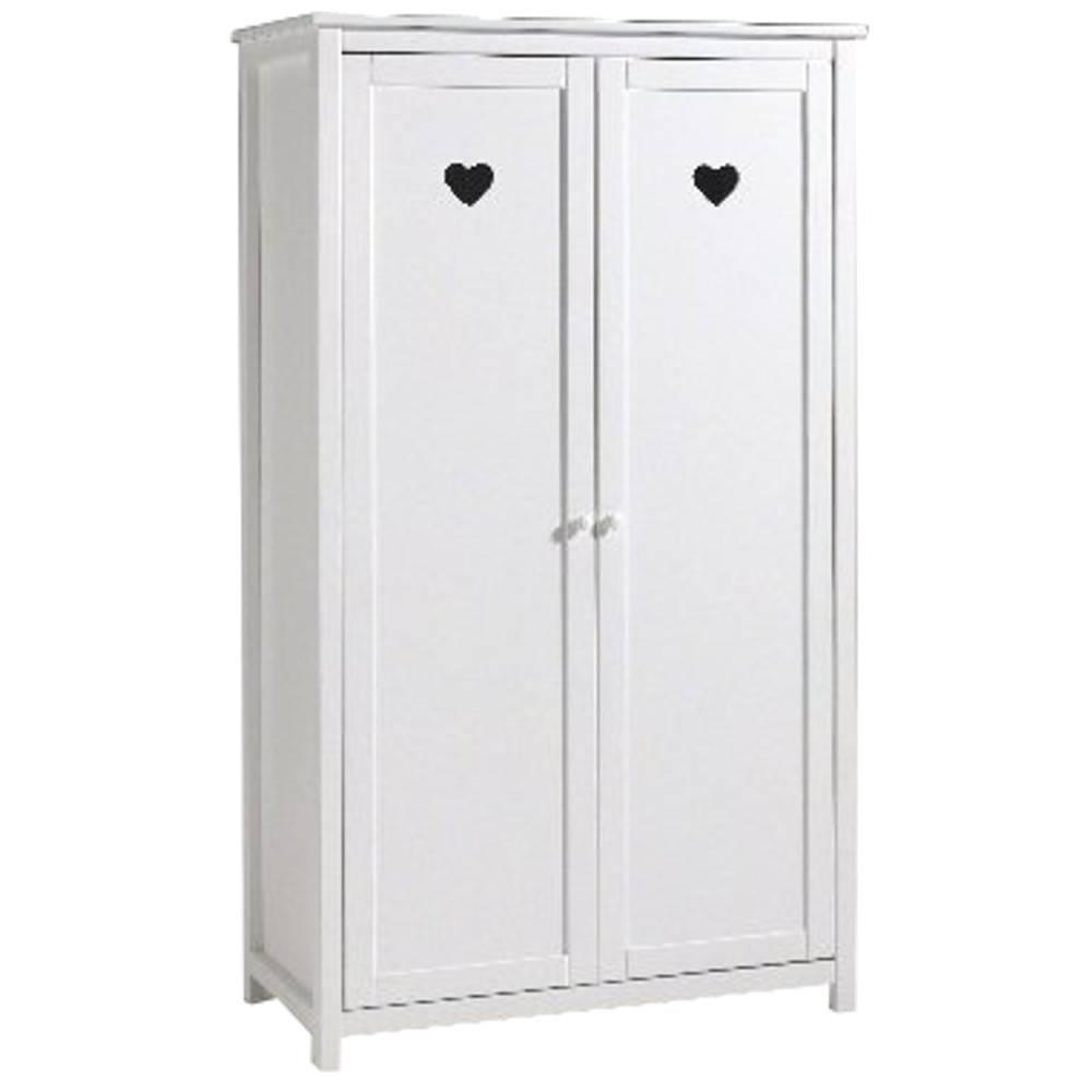 dressings et armoires chambre literie armoire dressing amori blanche 2 portes inside75. Black Bedroom Furniture Sets. Home Design Ideas