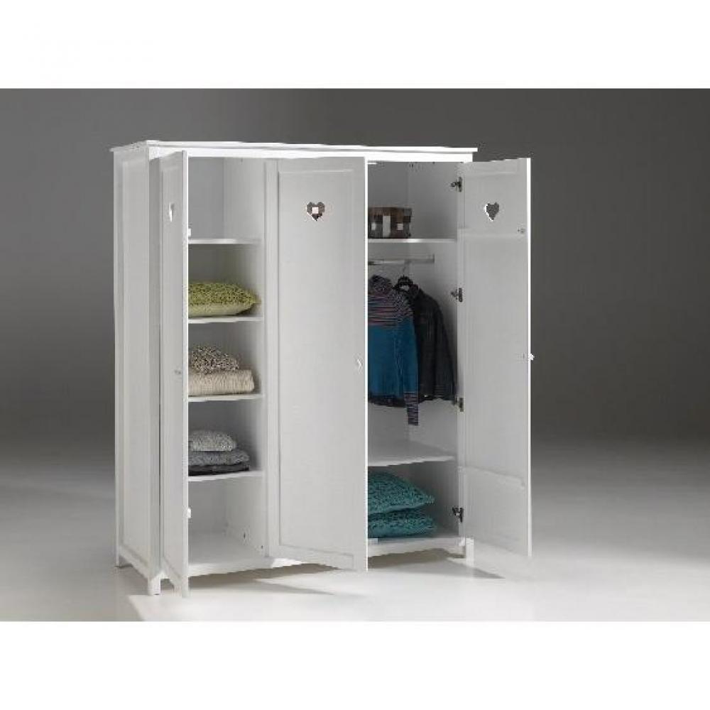 dressings et armoires chambre literie armoire dressing amori blanche 3 portes inside75. Black Bedroom Furniture Sets. Home Design Ideas