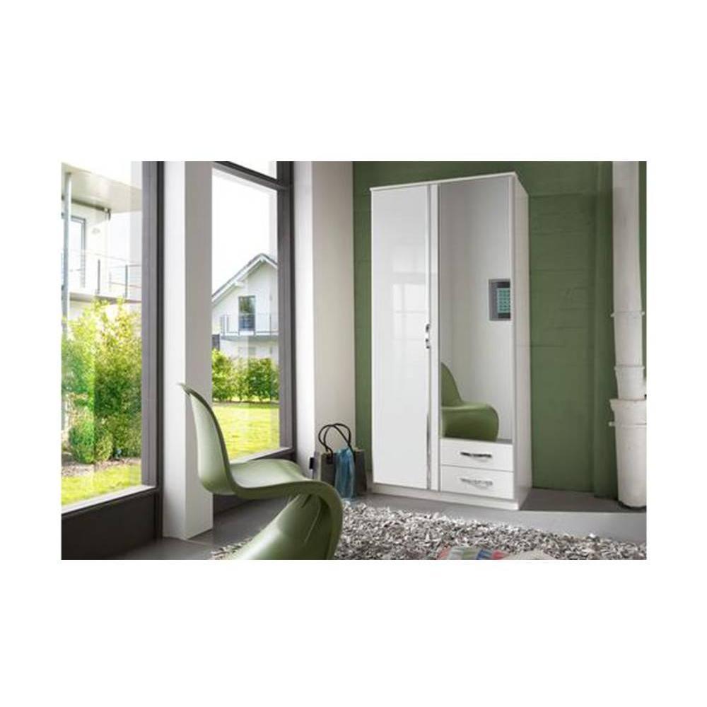 Dressings et armoires meubles et rangements armoire penderie kroos blanche - Armoire dressing blanche ...