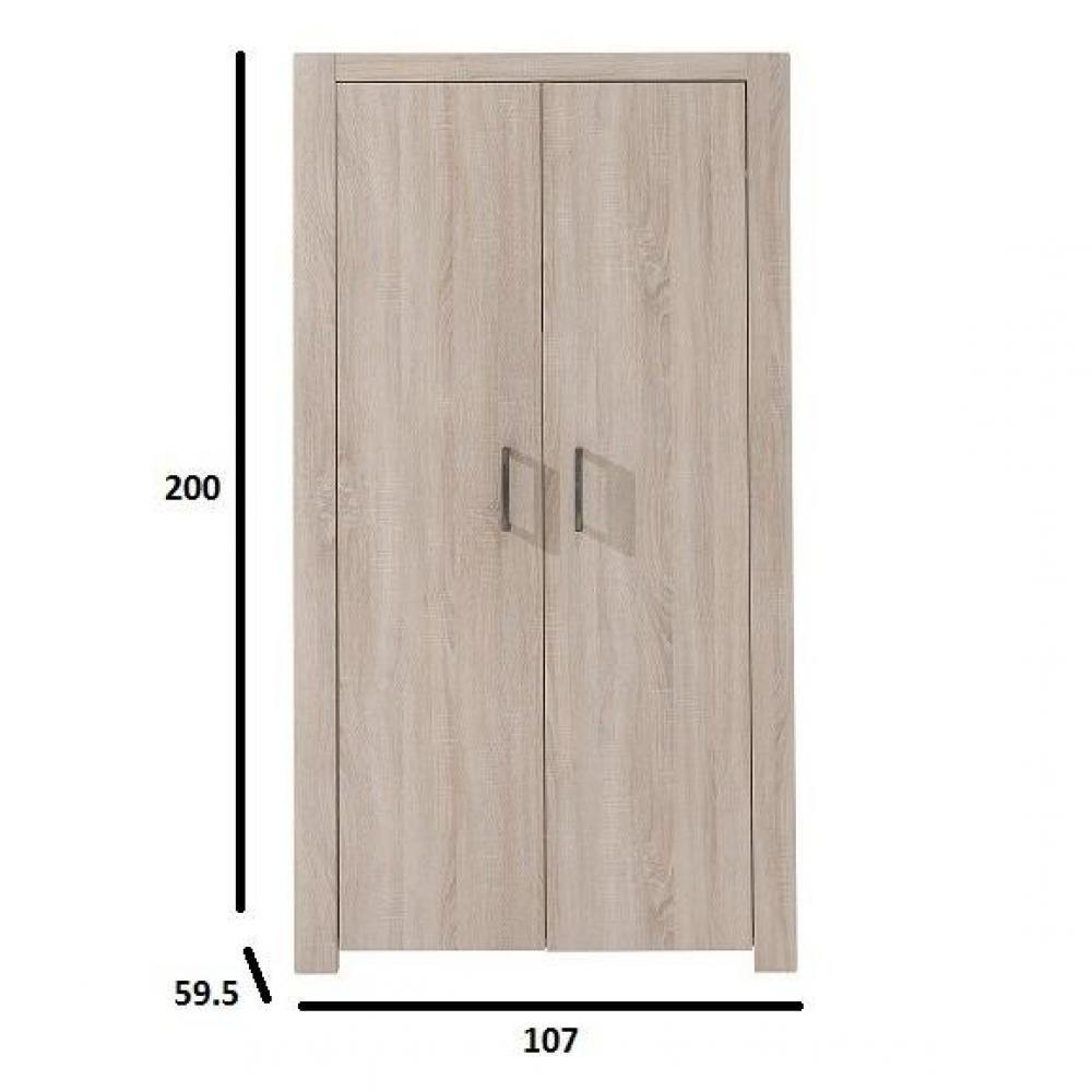 Dressings et armoires chambre literie armoire penderie lupus ch ne 2 - Structure armoire penderie ...