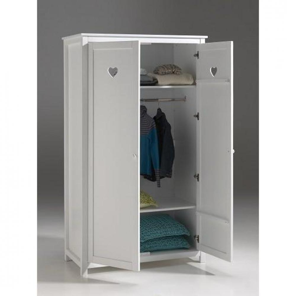dressings et armoires chambre literie armoire dressing mensa blanche 2 portes inside75. Black Bedroom Furniture Sets. Home Design Ideas