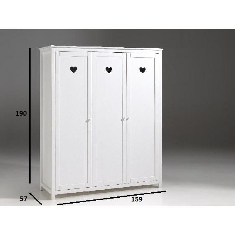 dressings et armoires chambre literie armoire dressing mensa blanche 3 portes inside75. Black Bedroom Furniture Sets. Home Design Ideas