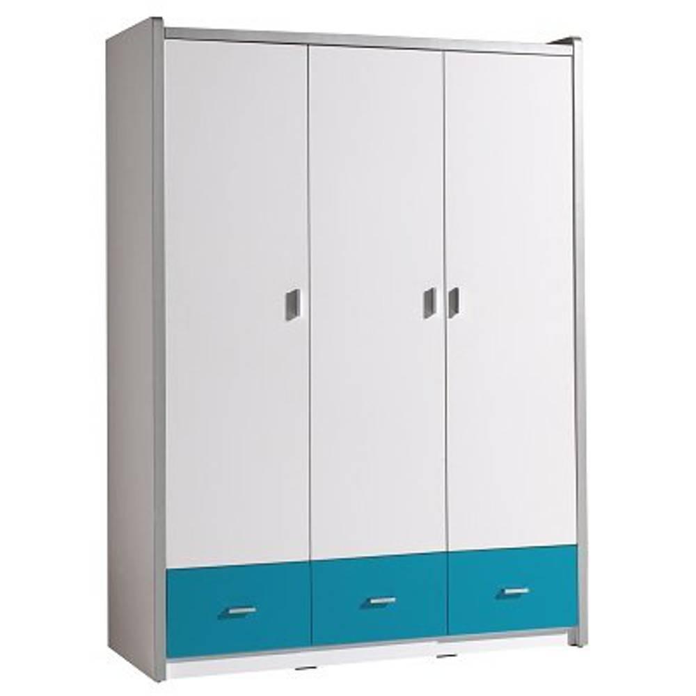 Dressings et armoires chambre literie armoire dressing - Chambre blanche et turquoise ...