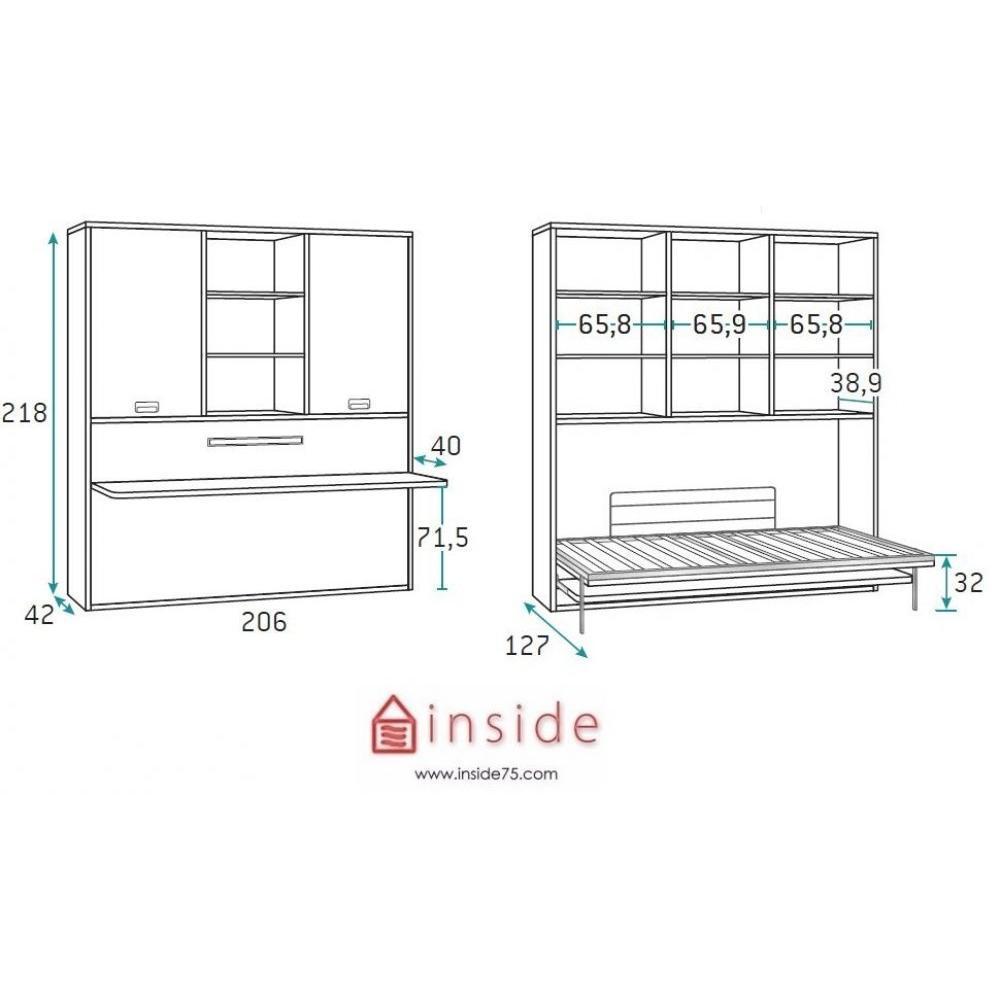 canap s convertibles canap s et convertibles armoire lit transversale stella avec tag res. Black Bedroom Furniture Sets. Home Design Ideas