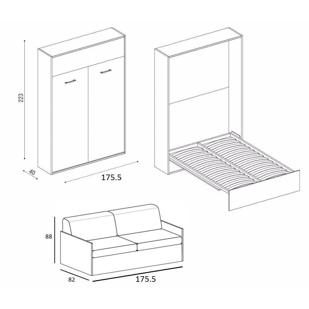 armoire lit canap armoires lits escamotables armoire lit ouverture assist e traccia canap. Black Bedroom Furniture Sets. Home Design Ideas