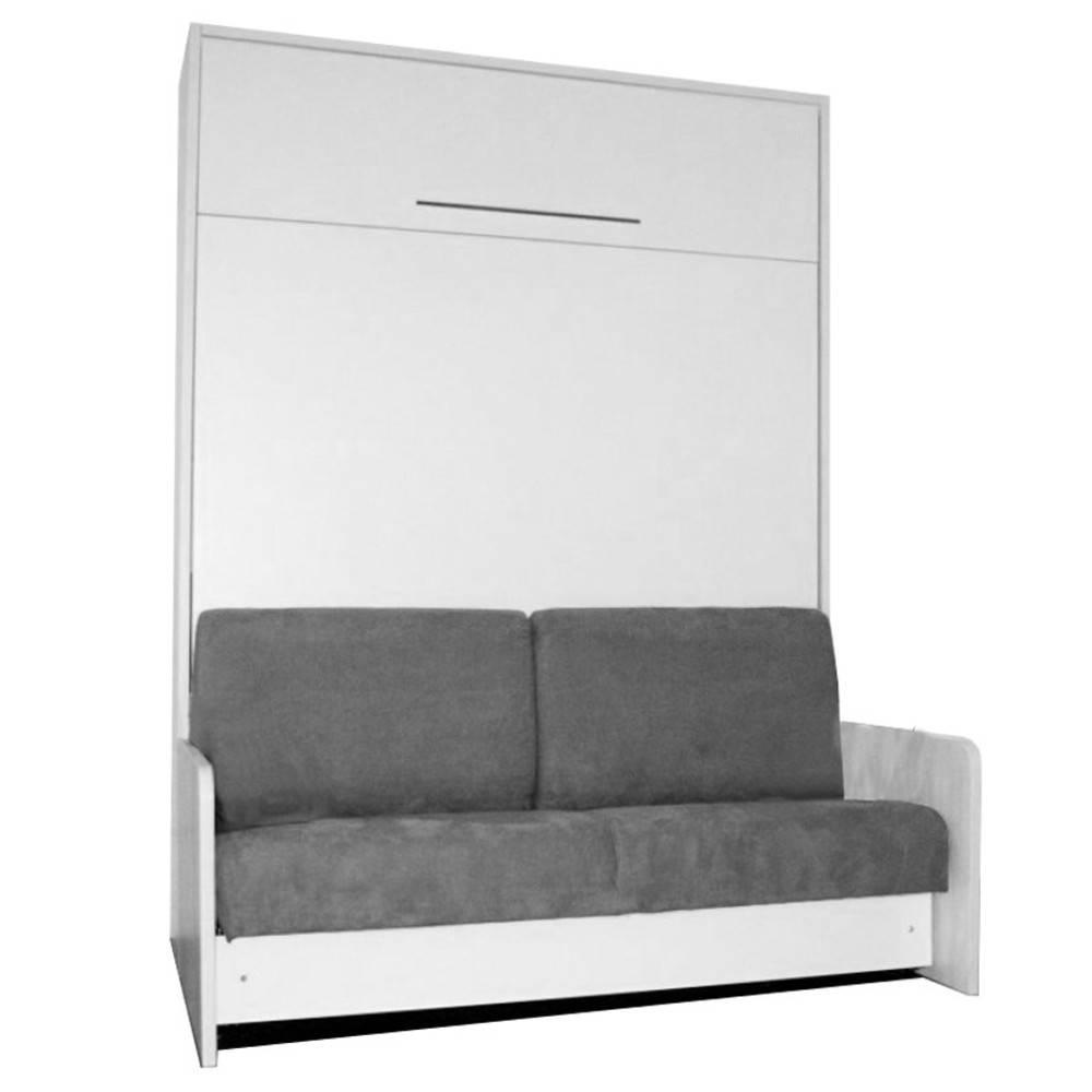 armoire lit canap chambre literie space sofa fast armoire lit escamotable 140cm blanche. Black Bedroom Furniture Sets. Home Design Ideas