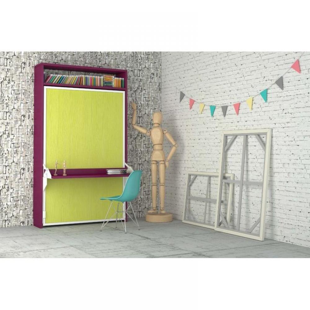 Armoire lit bureau armoires lits escamotables armoire lit escamotable aphro - Lit avec bureau integre ...
