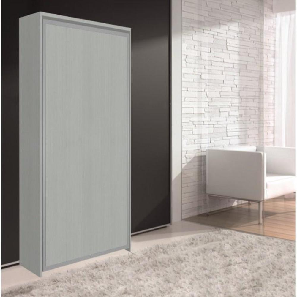 Armoires lits escamotables armoire lit escamotable cronos couchage 80 180 cm composable - Lit armoire escamotable ...