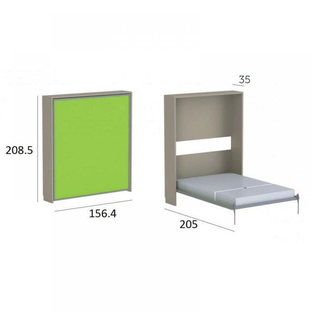 Armoire lit verticale armoires lits escamotables armoire lit escamotable cr - Structure lit escamotable ...