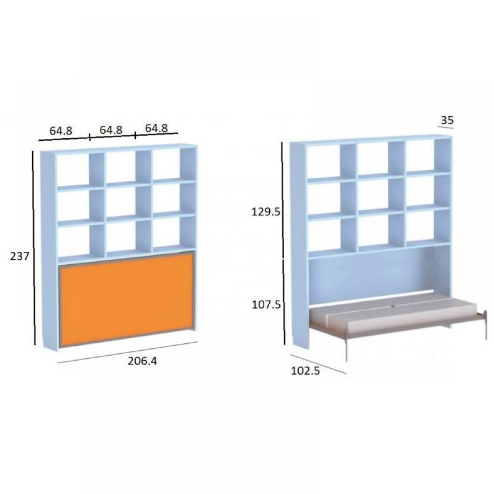 Armoire lit 1 place armoires lits escamotables armoire for Lit armoire escamotable rabattable