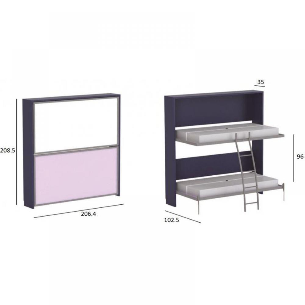 Armoire lits superpos s armoires lits escamotables armoire lit superpos e e - Lits superposes soldes ...