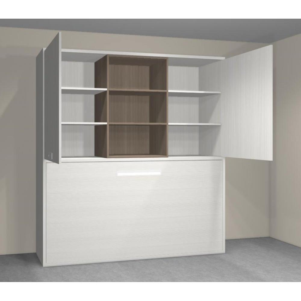 armoire lit 1 place armoires lits escamotables armoire lit transversale stella avec tag res. Black Bedroom Furniture Sets. Home Design Ideas