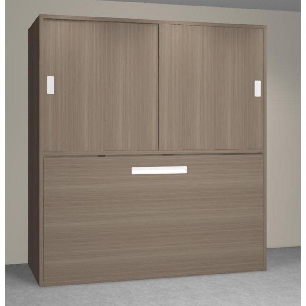 Lits escamotables armoires lits escamotables armoire lit transversale accura couchage 90 190cm - Armoire lit transversale ...