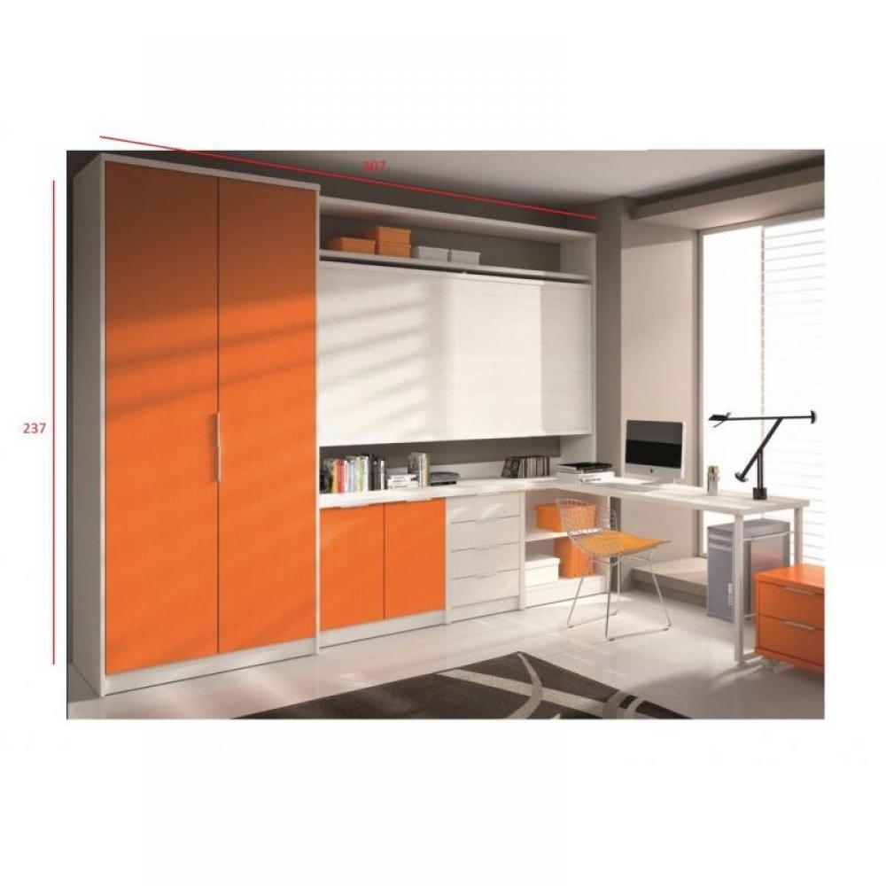 Armoire lit bureau armoires lits escamotables armoire for Meuble artemis