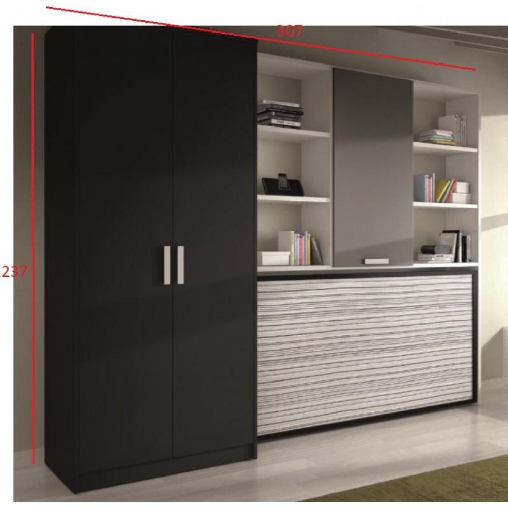 lits escamotables armoires lits escamotables armoire lit transversale vulcano avec rangements. Black Bedroom Furniture Sets. Home Design Ideas