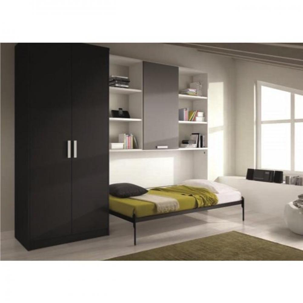 armoire lit 1 place armoires lits escamotables armoire lit transversale vulcano avec. Black Bedroom Furniture Sets. Home Design Ideas