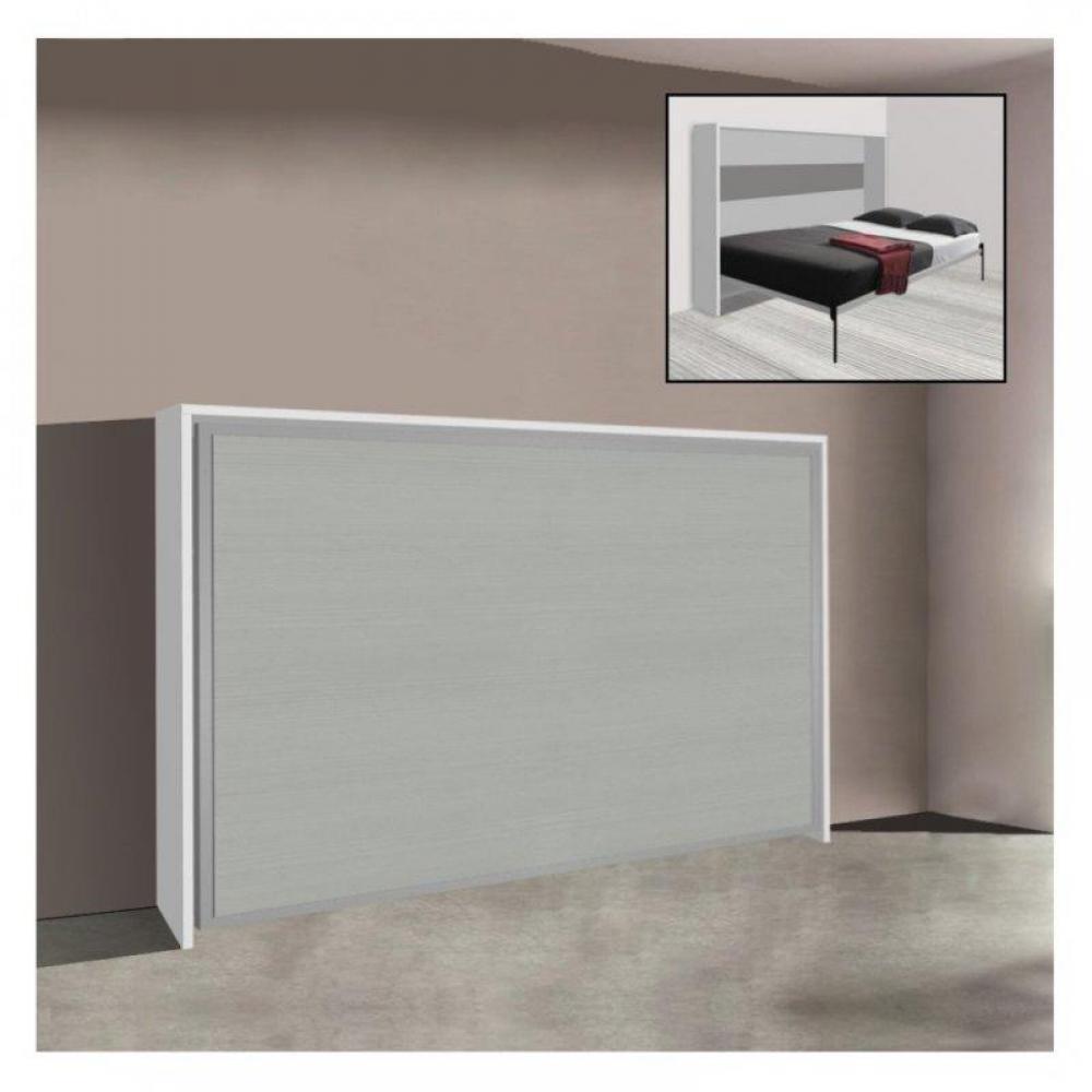 armoire lit transversale 140 table de lit. Black Bedroom Furniture Sets. Home Design Ideas