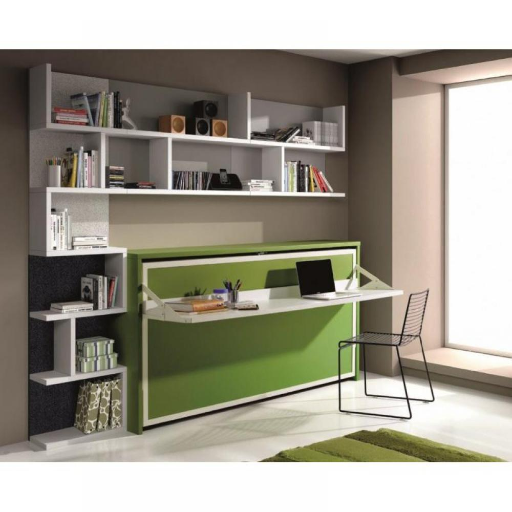 armoire lit 1 place armoires lits escamotables armoire lit transversale city avec bureau et. Black Bedroom Furniture Sets. Home Design Ideas