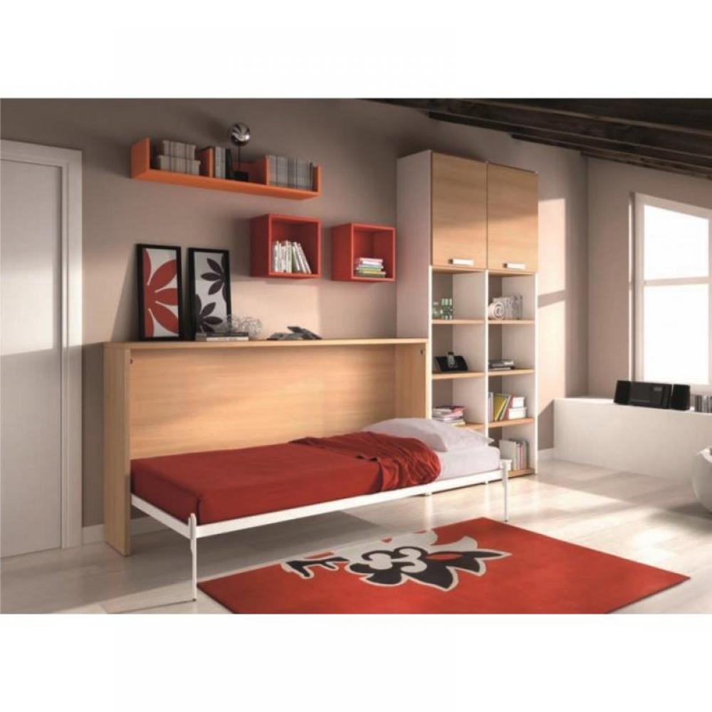 armoire lit 1 place armoires lits escamotables armoire lit transversale city avec rangements. Black Bedroom Furniture Sets. Home Design Ideas