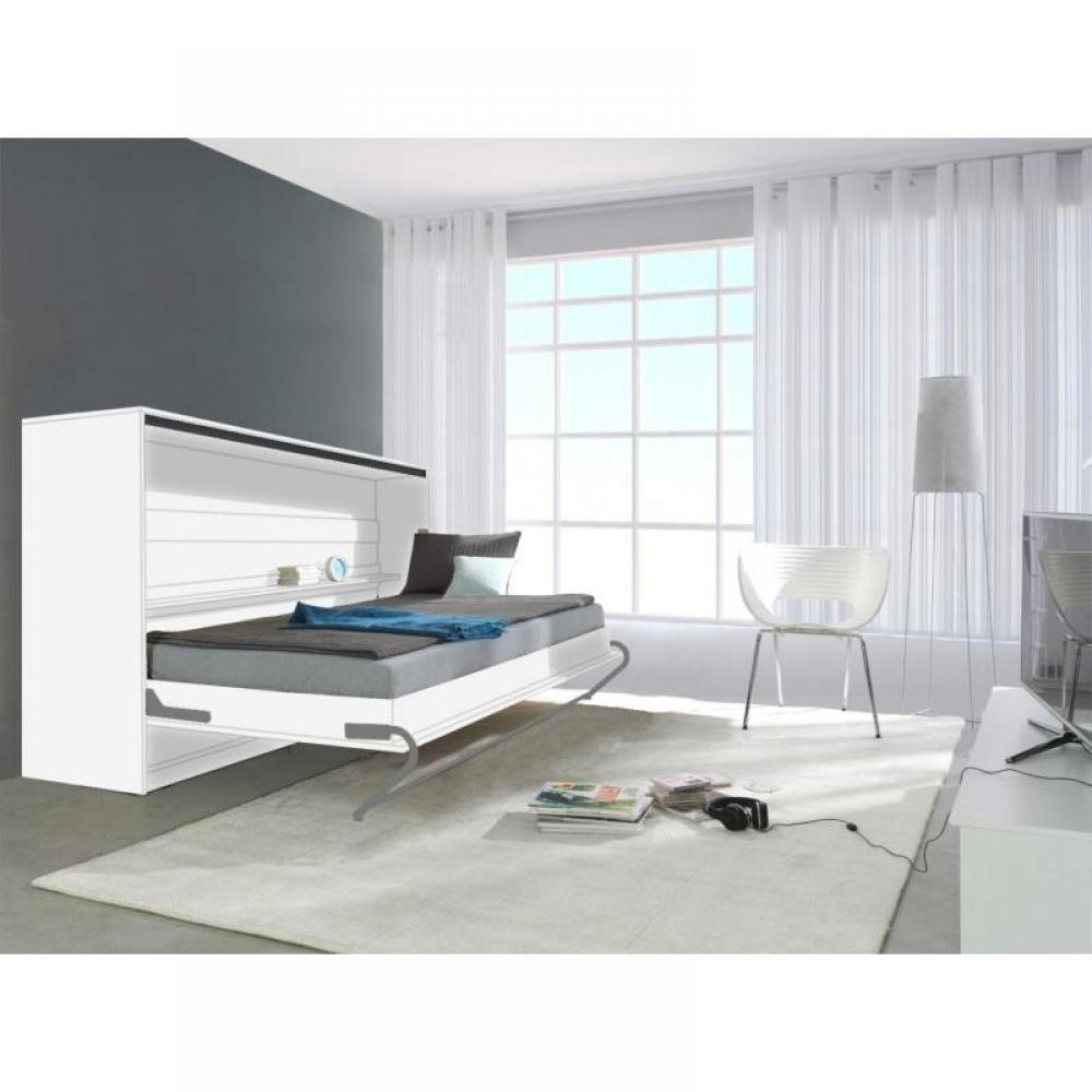 armoire lit 1 place armoires lits escamotables armoire lit transversale linea blanc mat. Black Bedroom Furniture Sets. Home Design Ideas