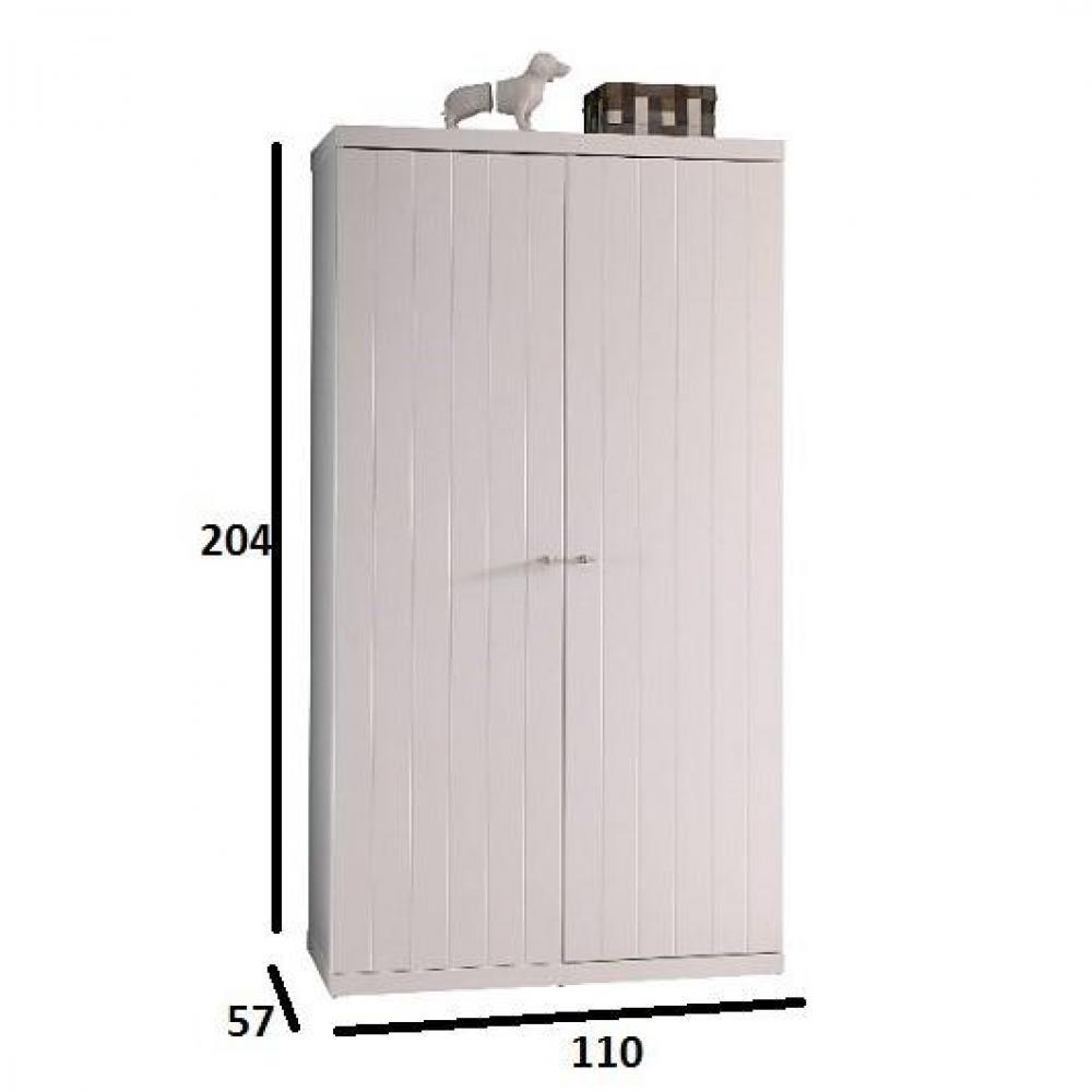 Dressings et armoires chambre literie armoire penderie hydrus 2 porte - Armoire sans penderie ...