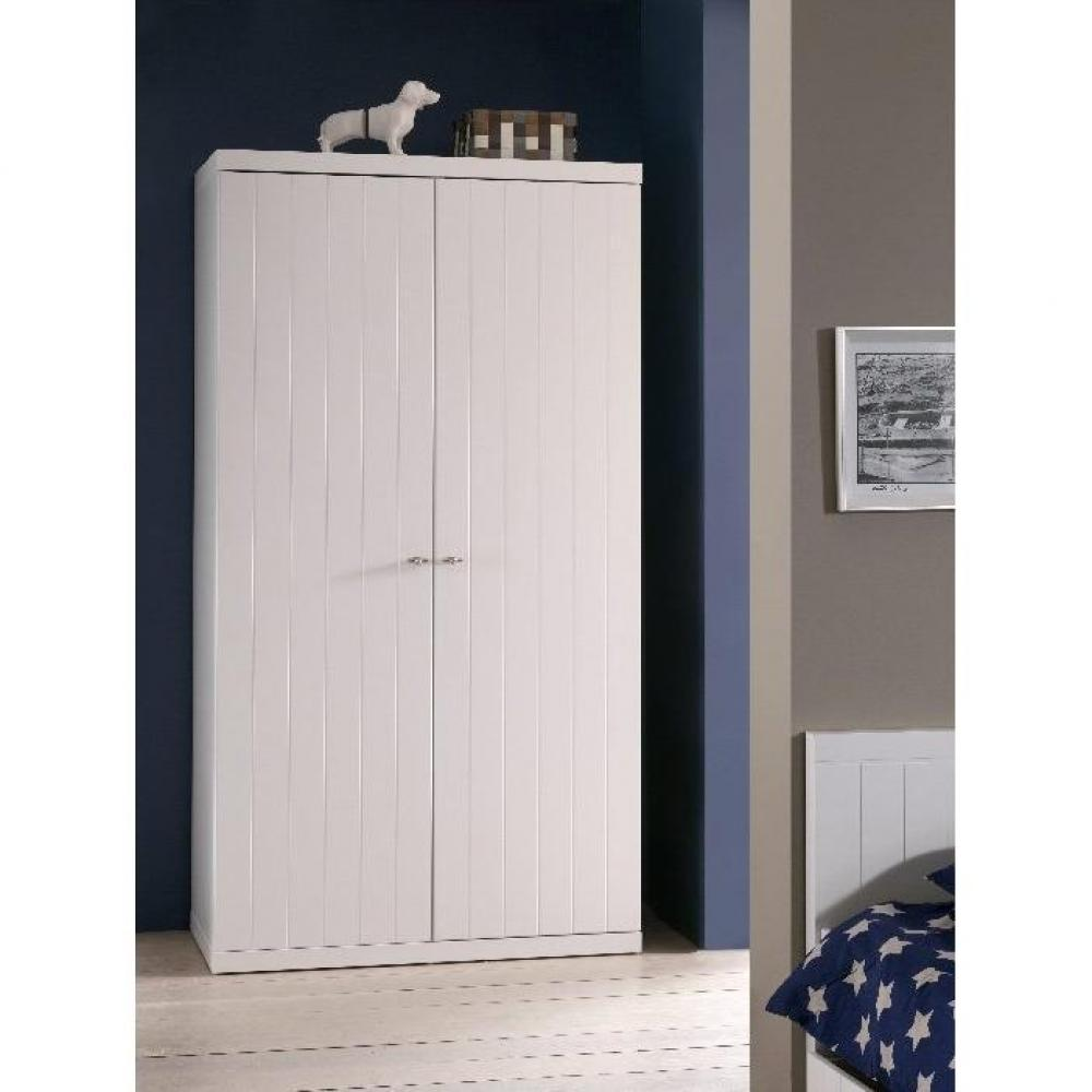 dressings et armoires chambre literie armoire penderie hydrus 2 portes blanche inside75. Black Bedroom Furniture Sets. Home Design Ideas
