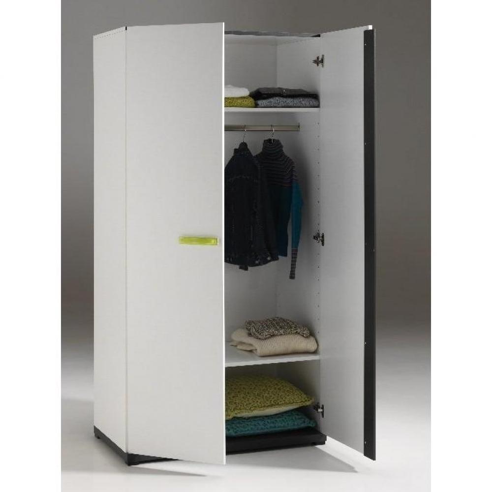 Dressings et armoires chambre literie armoire penderie volans 2 porte - Armoire une porte penderie ...