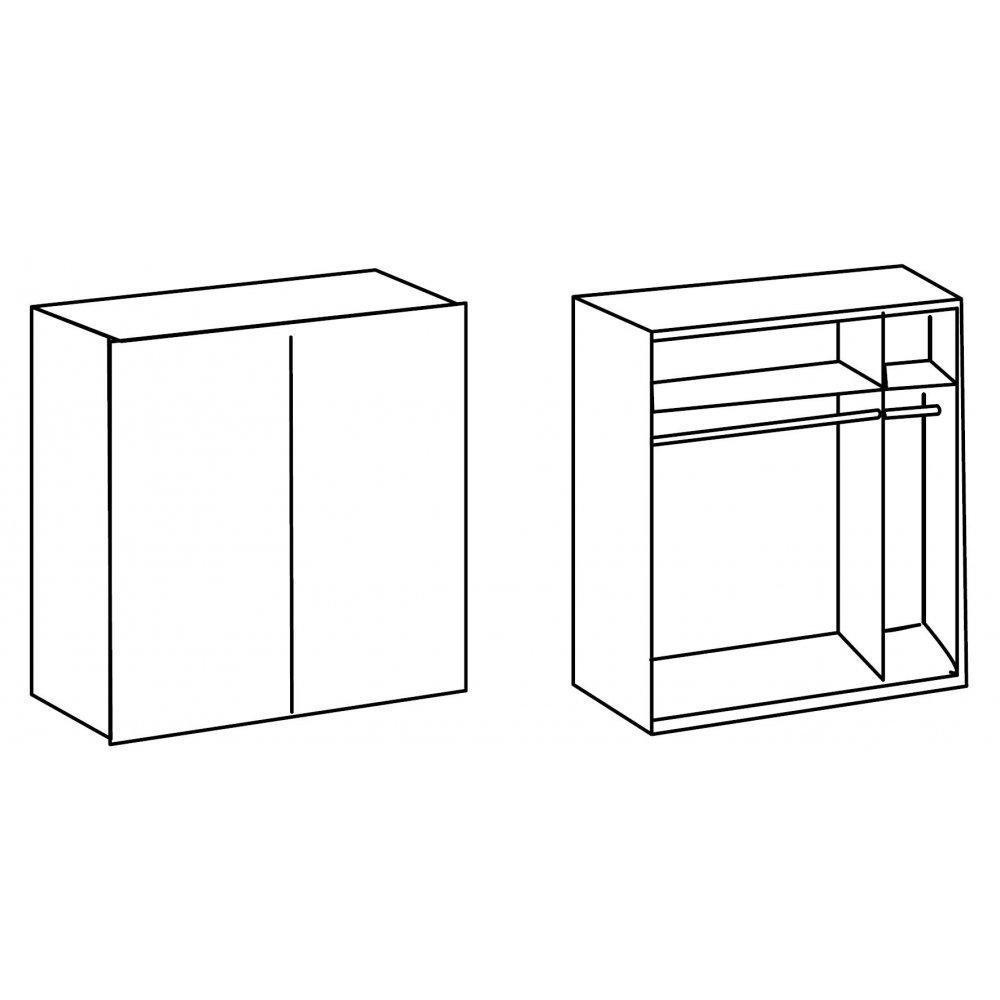 Dressings et armoires meubles et rangements dressing for Armoire 100 cm porte coulissante