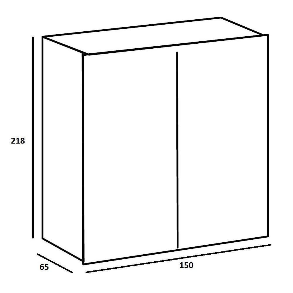 Dressings et armoires chambre literie dressing portes coullissantes light 150 blanc et - Armoire 150 cm ...