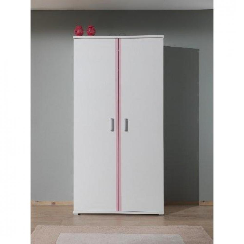 Dressings et armoires chambre literie armoire penderie valentine 2 po - Armoire penderie blanche ...
