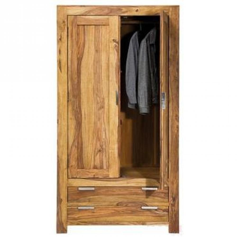 Dressings et armoires chambre literie armoire penderie wood 2 portes - Structure armoire penderie ...