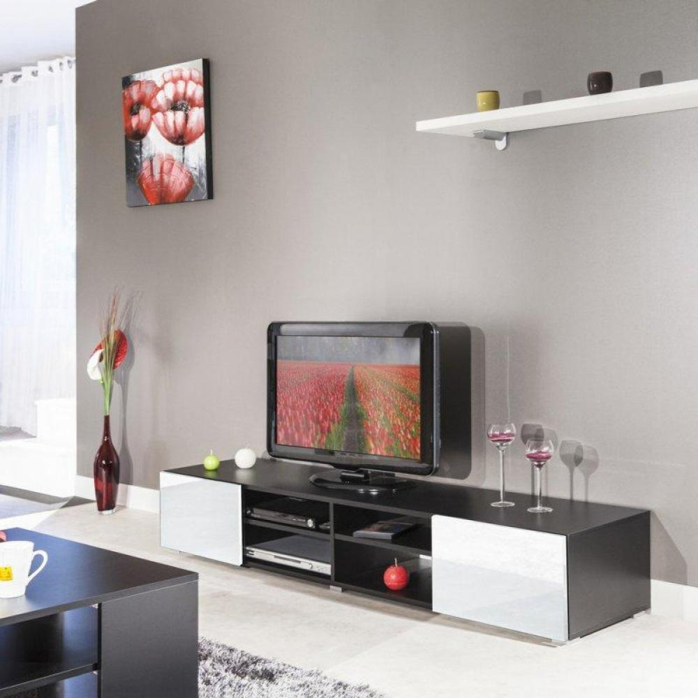 meuble tv blanc laque conforama solutions pour la. Black Bedroom Furniture Sets. Home Design Ideas