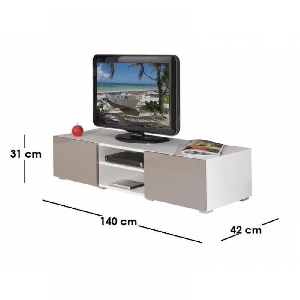 Meuble tv blanc laqu brillant - Meuble tv laque taupe ...