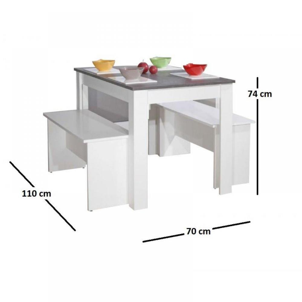Tables repas tables et chaises atlantique table repas 4 for Table 4 personnes dimensions