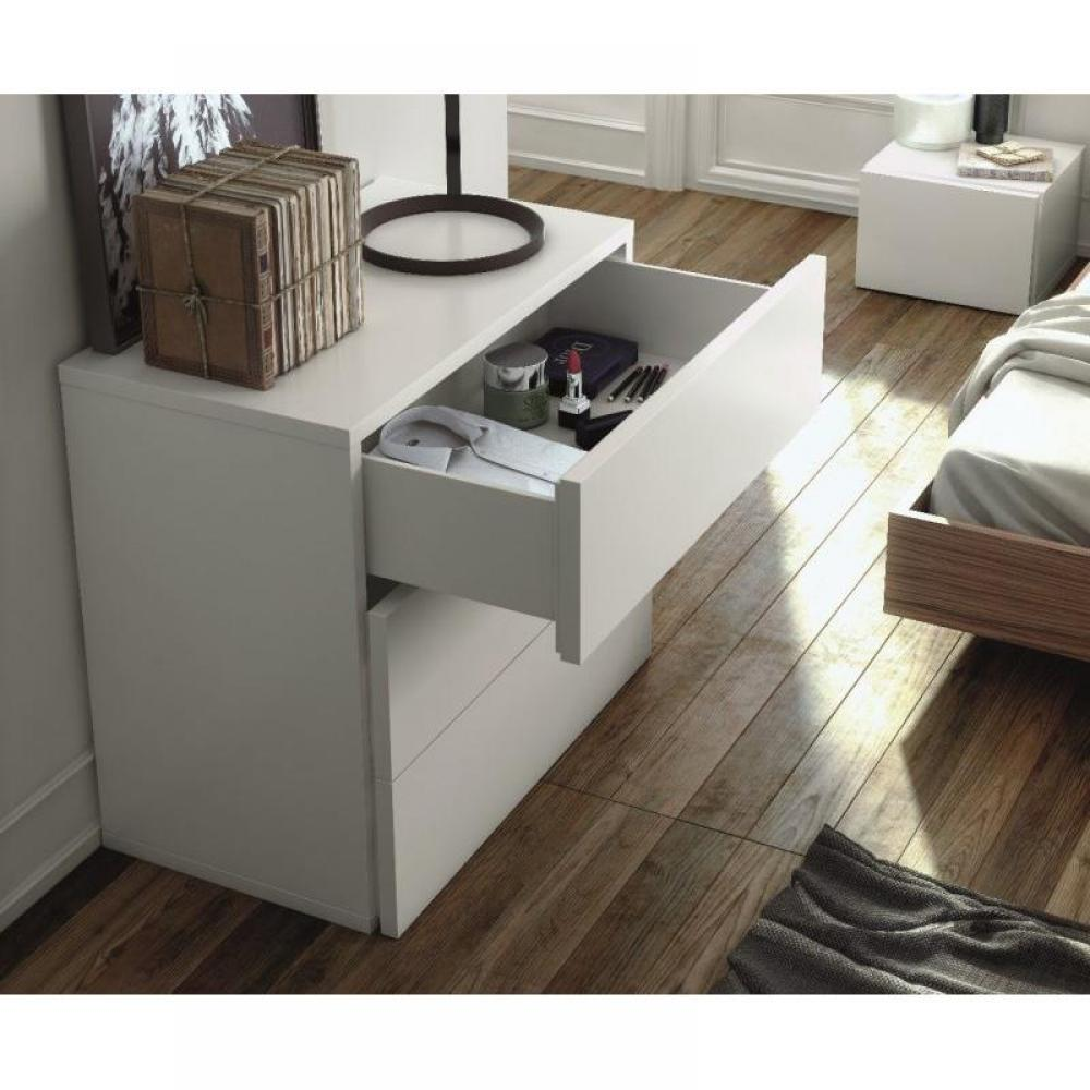 Commodes meubles et rangements aurora commode temahome blanche mate 5 tiroi - Commode blanche 3 tiroirs ...